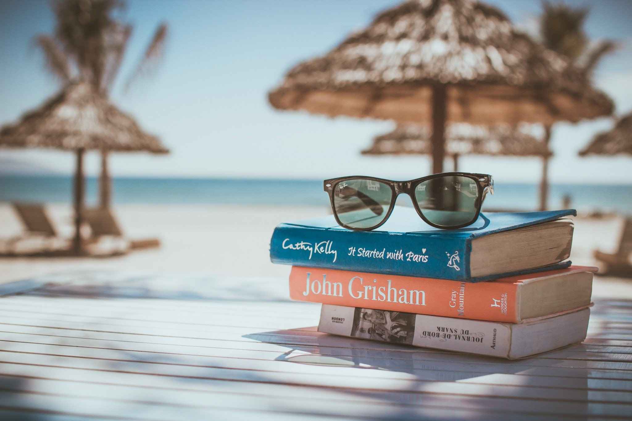 glasses-beach-books